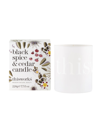 This Works Black Spice & Cedar Candle - 220g