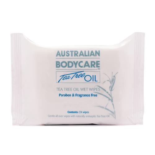 Australian Bodycare Tea Tree Oil Wet Wipes - 24 wipes