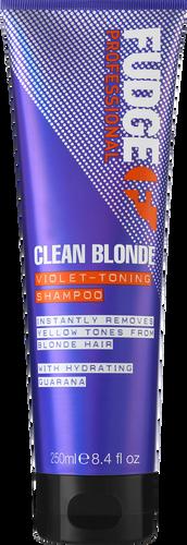 Fudge Clean Blonde Violet Toning Purple Shampoo - 250ml