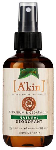 A'kin Geranium & Cedarwood Natural Deodorant