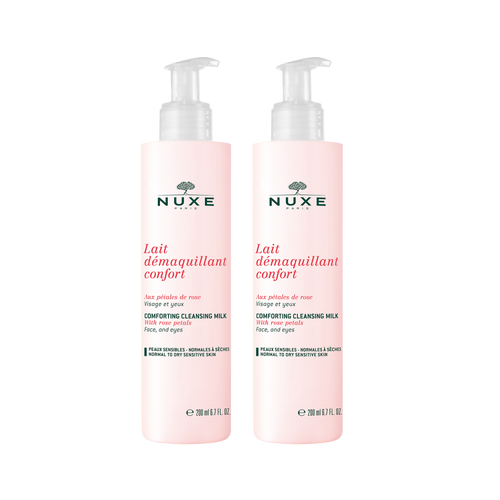 Nuxe Comforting cleansing milk with rose petals Duo