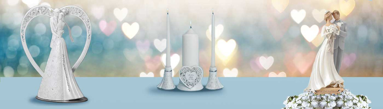 Shop for Wedding Cake toppers, wedding candles, wedding photo frames and figurines