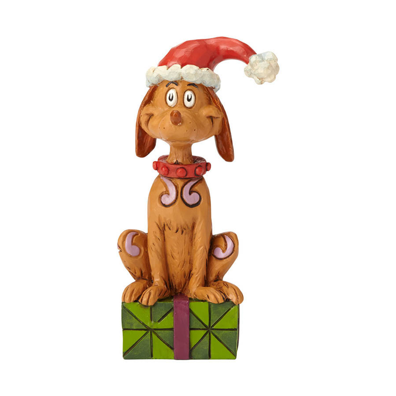 The Grinch Who Stole Christmas Dog.Max With Santa Hat Figurine Grinch