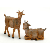 Fontanini 5'' Scale Nativity Goat Figurine Set