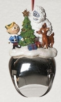 Rudolph Jingle Bell Ornament with Hermey and Bumble the  Abominable Snowman