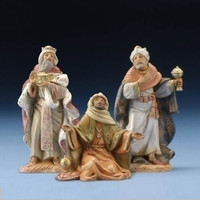 Fontanini Nativity Three Kings Figurine Set - 5 inch scale