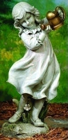 """Girl with Watering Can Garden Statue 22"""" H"""