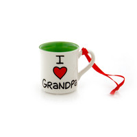 I Heart Grandpa Mini Mug Ornament