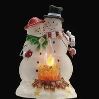 Roman Snowman Couple Nightlight