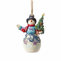 Jim Shore Snowman with Tree Ornament