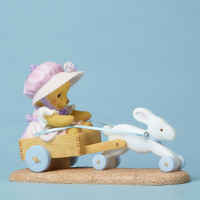 Cherished Teddies Bunny Cart Figurine