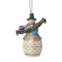 Jim Shore Snowman with Garland Ornament