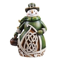 Irish Snowman Figurine