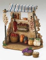 Fontanini Christmas Nativity Village Produce Shop - 5 inch scale