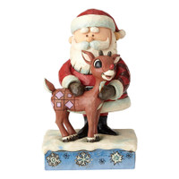 Jim Shore Santa and Rudolph Christmas figurine