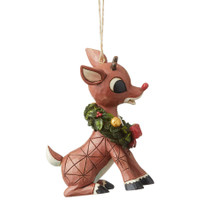 Jim Shore Rudolph with Wreath Christmas Tree Ornament | The Collectors Hub