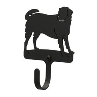 Black Wrought Iron Dog Kitchen Refrigerator Magnet Hook