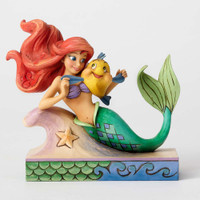 Jim Shore Little Mermaid Ariel with Flounder Figurine