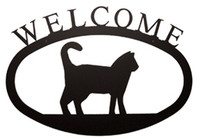 Cat Welcome Sign Small