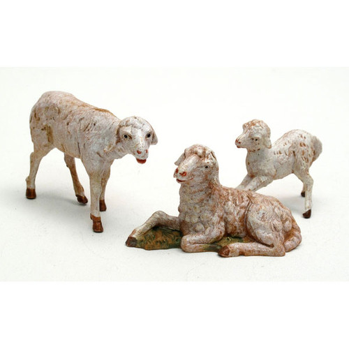 Fontanini 5'' Scale Nativity Sheep 3 Piece Figurine Set