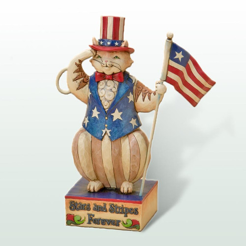 Jim Shore Patriotic Cat Figurine