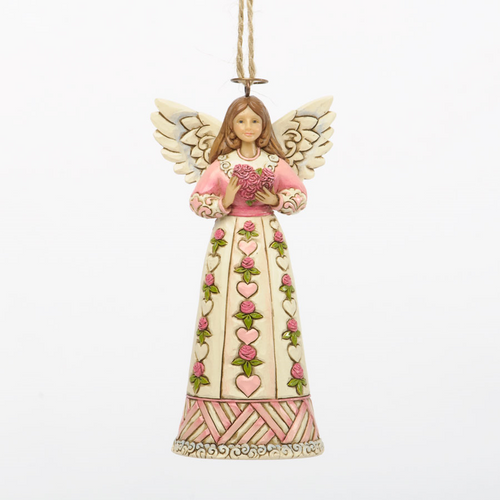 Jim Shore Angel Ornament - Rose Heart
