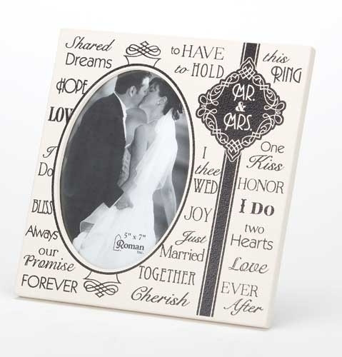 Mr and Mrs Wedding Photo Frame for a 5x7 photo