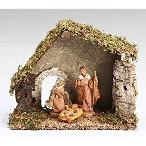 "Fontanini Christmas Nativity Set - 3 piece, 5"" scale starter set"