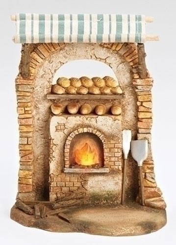 "Fontanini Nativity Village Bakery Shop for 5"" scale nativity village sets"