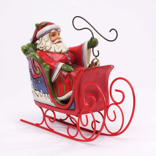Jim Shore Santa in Sleigh - Jingle All the Way