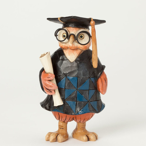 Jim Shore Owl Graduation Figurine
