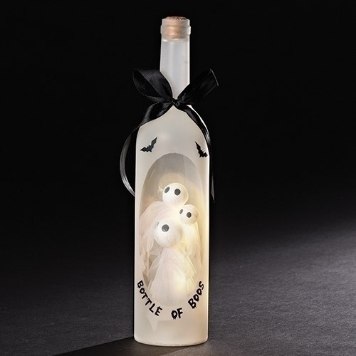 Halloween LED Wine Bottle - Bottle of Boos