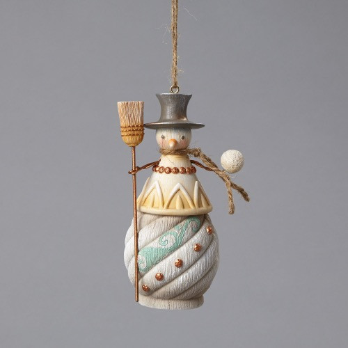 Snowman with Broom ornament from the Jim Shore River's End collection