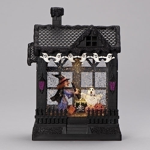 Halloween Haunted House LED waterglobe