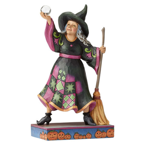Jim Shore Witch with Crystal Ball figurine