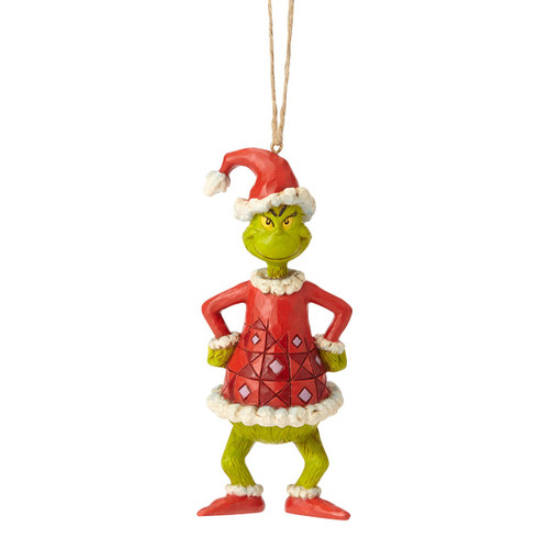 Jim Shore Grinch Dressed as Santa Ornament