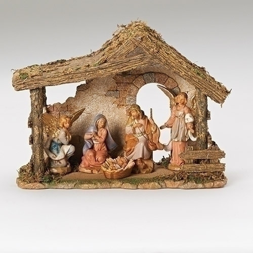 Fontanini Nativity Set with Stable | 5 inch scale