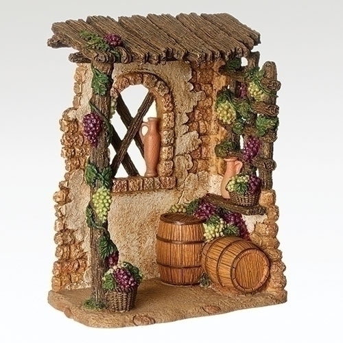 "Fontanini Nativity Village Wine Shop - 5"" scale"