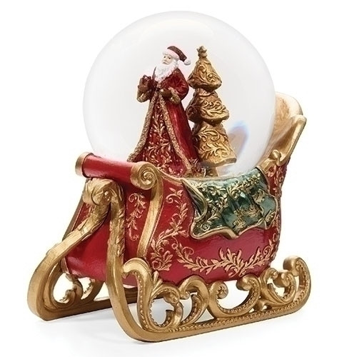 Musical Santa and Sleigh Snowglobe