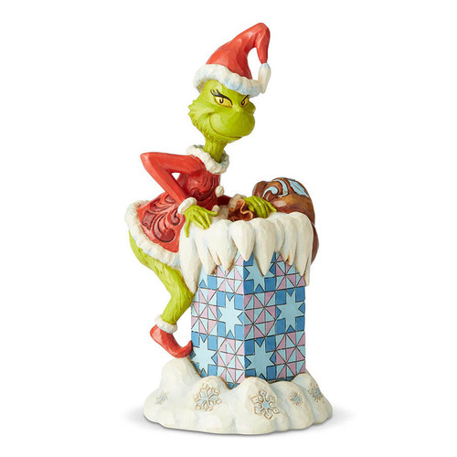 Grinch Climbing Down Chimney figurine by Jim Shore | The Collectors Hub