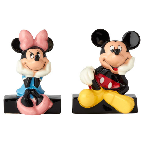 Mickey amd Minnie Mouse Salt and Pepper Shakers by Disney Ceramics