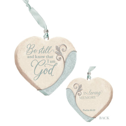 Heart shaped memorial ornament