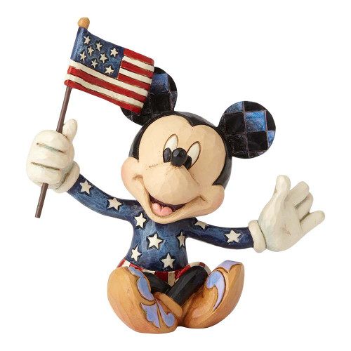 Patriotic Mickey Mouse mini figurine by Jim Shore | The Collectors Hub