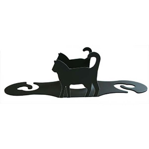 Black Cat Wrought Iron Wine Caddy | The Collectors Hub