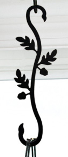 Wrought Iron Acorn S-Hook Plant Hanger