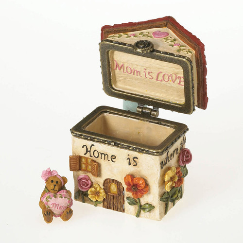 Momma Bearsworth Blossoming Home Trinket Box