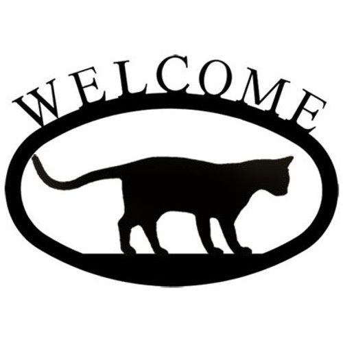 Welcome Sign Small - Cat at Play