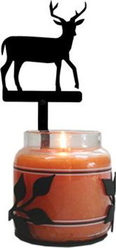 Wrought Iron Deer Jar Candle Sconce