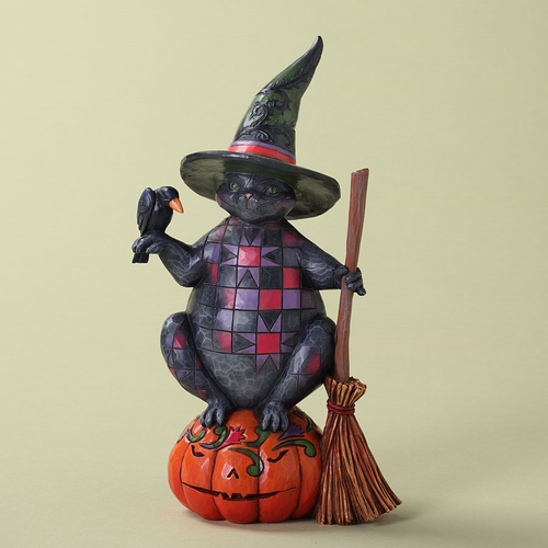 Jim Shore Halloween Cat Figurine