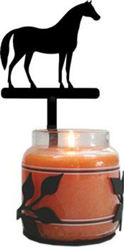 Wrought Iron Horse Jar Candle Sconce
